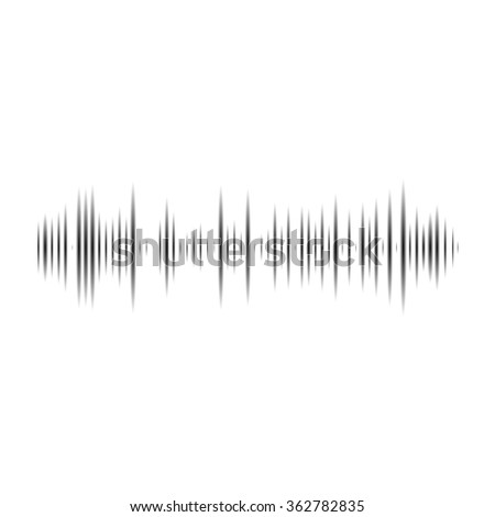 Vector music sound wave. Audio digital equalizer technology, console panel, pulse musical. - stock vector