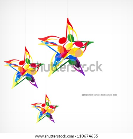 Vector music star background. - stock vector