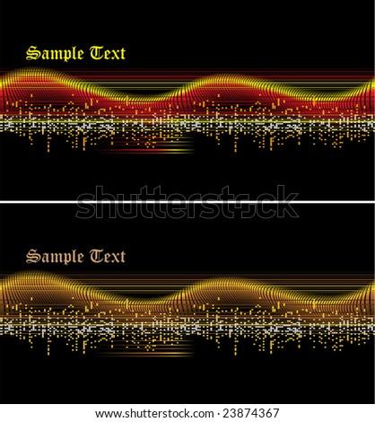 Vector music wave - stock vector