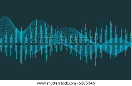 vector music wave- vector - stock vector