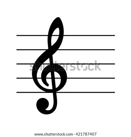 Vector Musical Key Icon Set Music Stock Photo Photo Vector