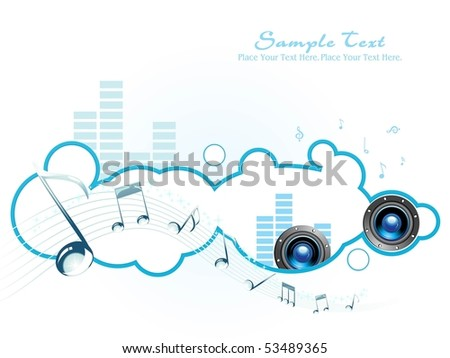 vector musical pattern isolated photo frame - stock vector