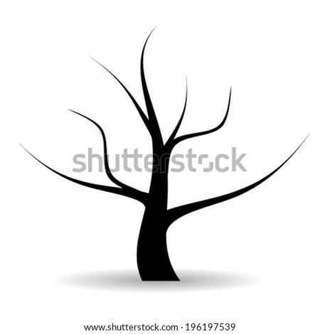Vector naked tree illustration - stock vector