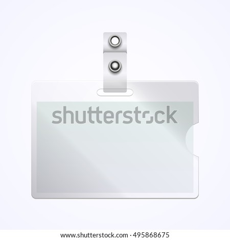 Vector Name Tag on white background. Identification blank. Vector illustration.
