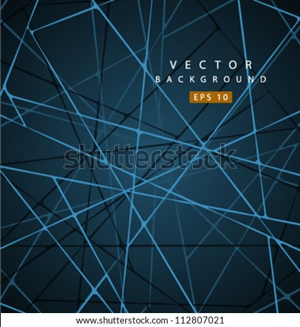 vector nano road background - stock vector