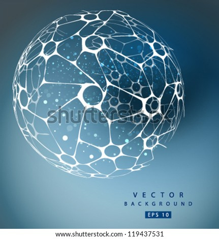 Vector nano sphere - stock vector