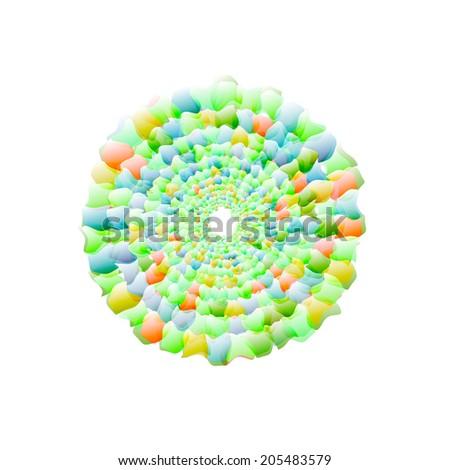 Vector nano texture color web - stock vector