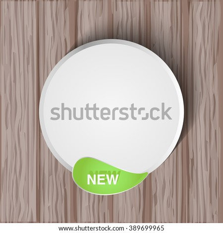 Vector natural stickers with leaf - stock vector