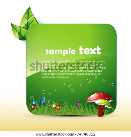 vector nature artwork with space for your text - stock vector
