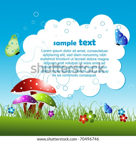 vector nature background with space for your text - stock vector