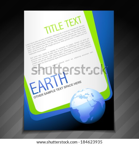 vector nature flyer brochure poster template design - stock vector