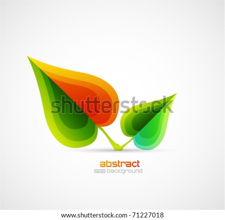 Vector nature leaf design - stock vector