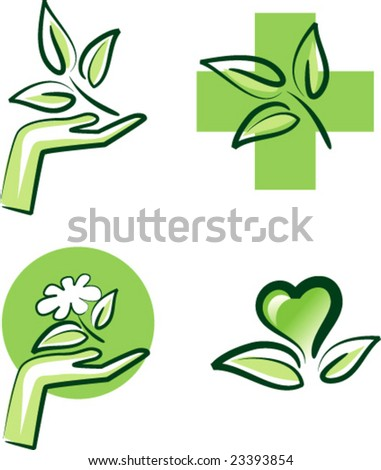 vector nature signs - stock vector