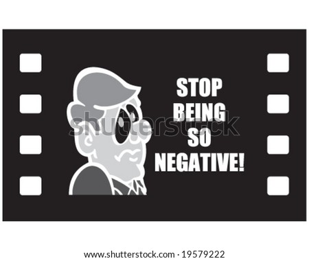 Vector negative stop being negative message stock vector 2018 vector negative with stop being so negative message thecheapjerseys Images