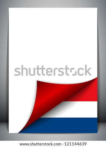 Vector - Netherlands Country Flag Turning Page