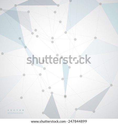Vector network background abstract polygon triangle.  - stock vector