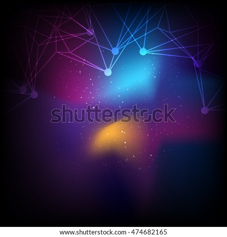vector network communication, abstract technology background