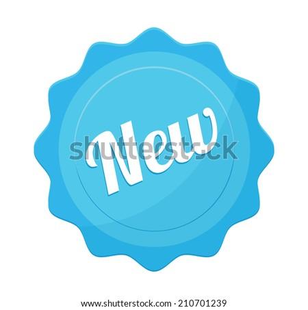Vector New Badge Flat Icon - stock vector