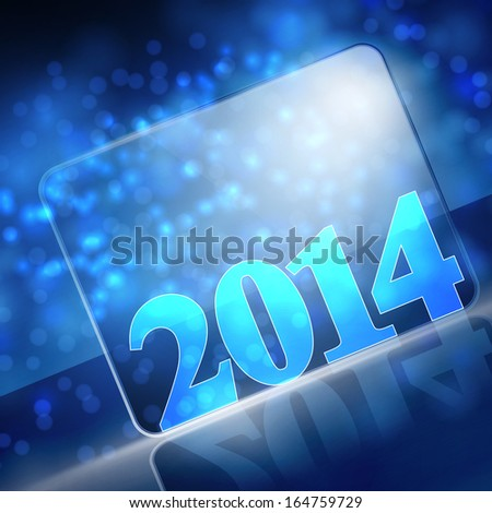 vector new year 2014 beautiful design - stock vector