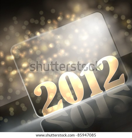 vector new year 2012 beautiful design - stock vector