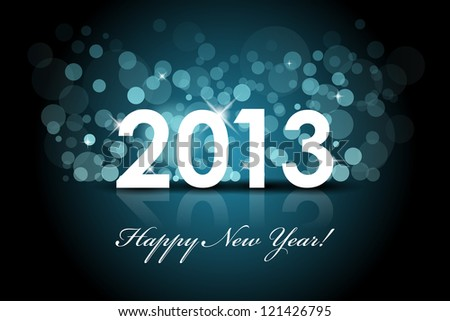 Vector 2013 - New year blue background - stock vector