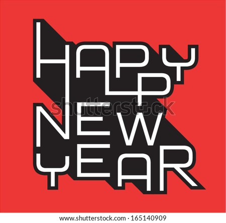 Vector  New Year Card - stock vector
