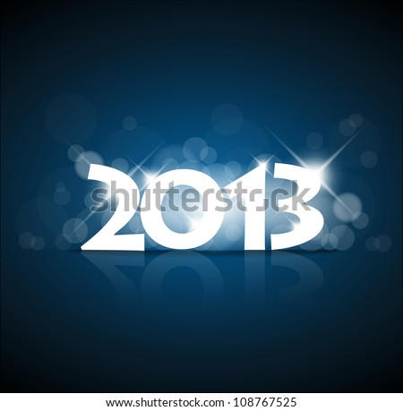 Vector New Year card 2013 with back light and place for your text - stock vector