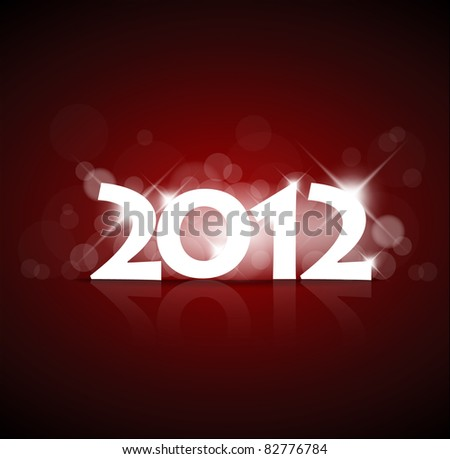 Vector New Year card 2012 with back light and place for your text