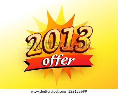 vector 2013 new year offer illustration - stock vector