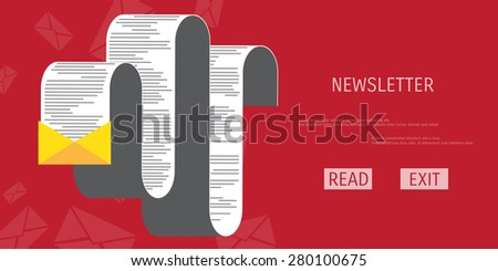 Vector news publication web flat background. Global communication. Social network. Concepts for web banners and promotional materials. - stock vector