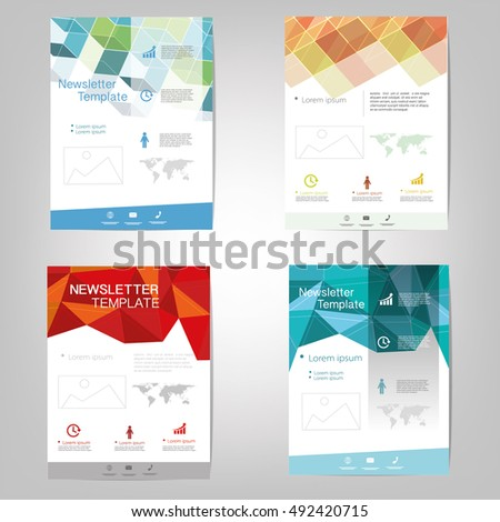 Vector newsletter design templates