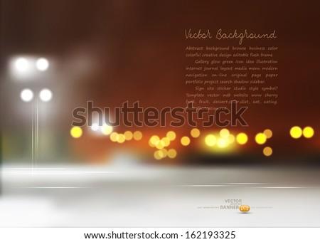 vector night cityscape - stock vector