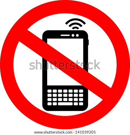 Vector no cell phone sign - stock vector