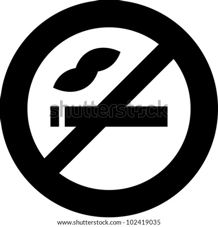 Vector no smoking sign icon isolated - stock vector