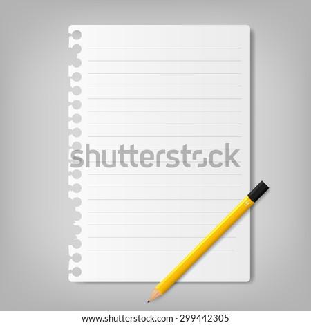 Vector Note Paper - stock vector