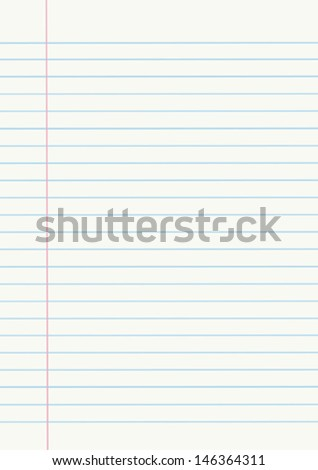 Vector notebook paper - stock vector