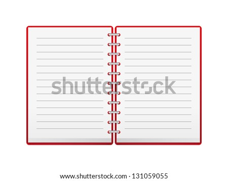 Vector notebook with place for text