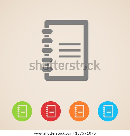 vector notepad icons - stock vector