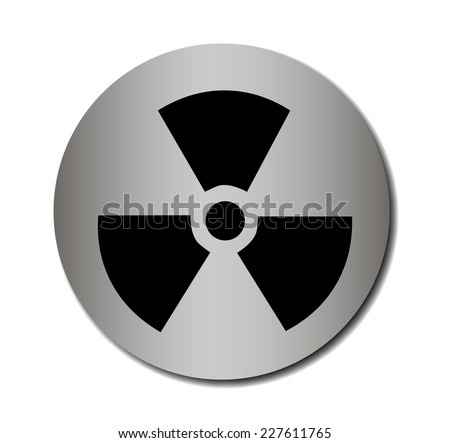 Vector nuclear sign or icon Vector illustration EPS 10 - stock vector