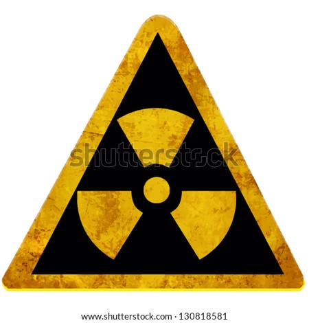 Vector nuclear sign representing the danger of radiation - stock vector