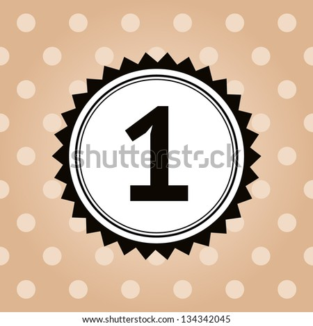 vector number one icon - stock vector