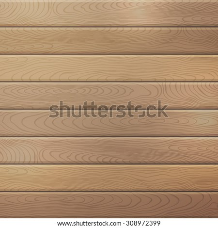 Vector oak wood plank background. Square background with horizontal planks. - stock vector