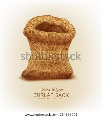 Vector object- a burlap sack - stock vector