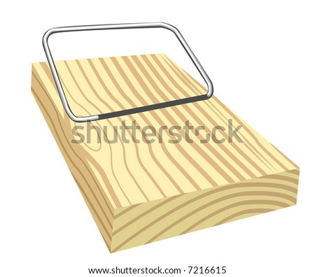 Vector object background - mouse trap. Editable illustration. - stock vector