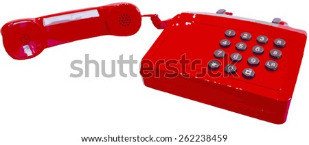 Vector of a 1980's british telephone - stock vector