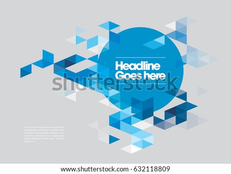 Vector of abstract geometric pattern and background
