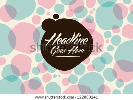 vector of abstract polka dot background - stock vector
