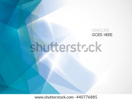 Vector of abstract polygonal background - stock vector