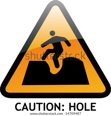Vector of Alert Sign-4 Hole