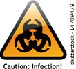 Vector of Alert Sign-1 Infection - stock vector